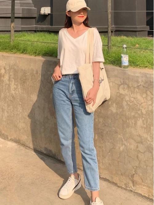 Quần Mom Jeans VNXK Lưng Cao Mã 003